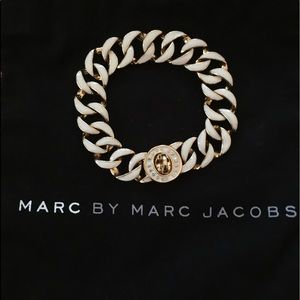 Marc By Marc Jacobs Chain Link Bracelet White/Gold